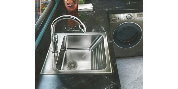 Charmant ... Sink System, Designed And Manufactured By Just Manufacturing, Features  An Integral Washboard At The Front Of The Stainless Steel Sink For  Convenient, ...